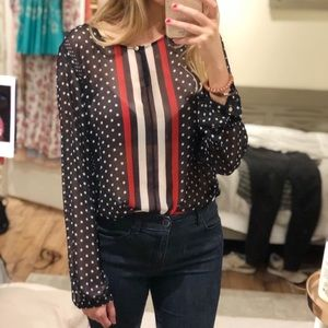 Red White & Blue Blouse